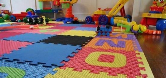 pisos de goma salas de juego